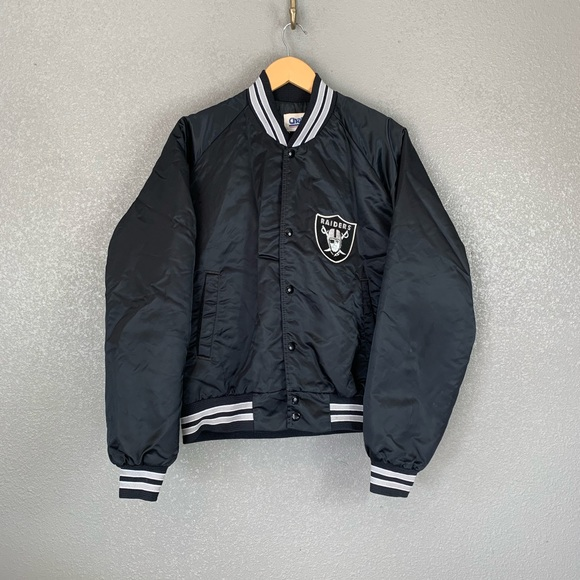 1bf86784 Vintage Oakland Raiders satin bomber jacket large